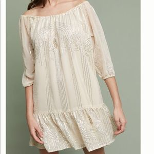 Anthropologie Beaded Sands Swing Dress NWT